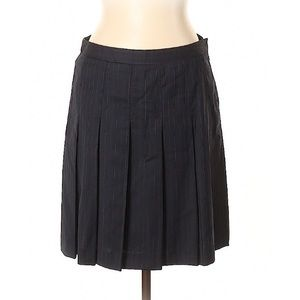 J.Crew Pleated Wool Striped Skirt